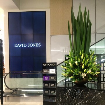 David Jones floral display